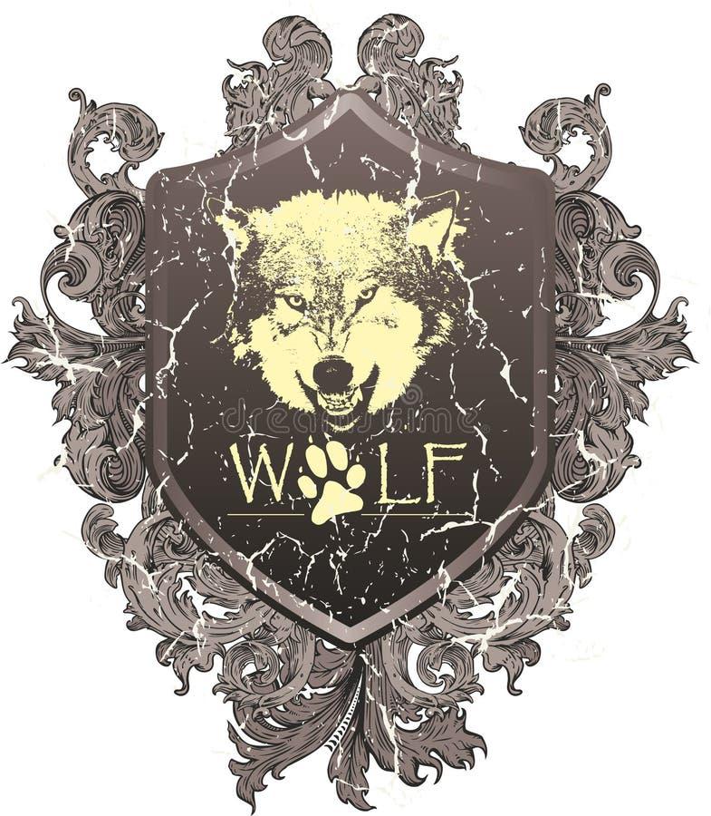 Cappotto del lupo delle braccia illustrazione di stock