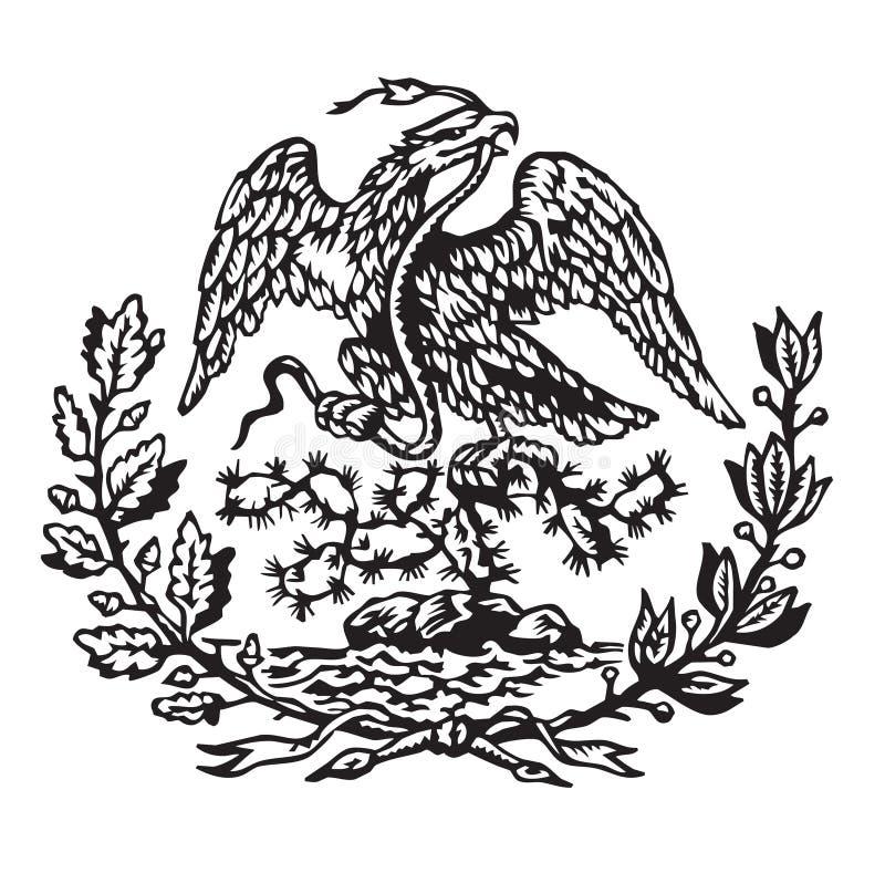 Cappotto delle braccia messicano fotografie stock libere da diritti