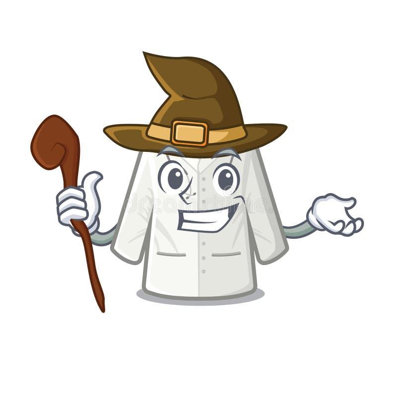 Cappotto dello stregone immagazzinato nell'armadietto della mascotte illustrazione vettoriale