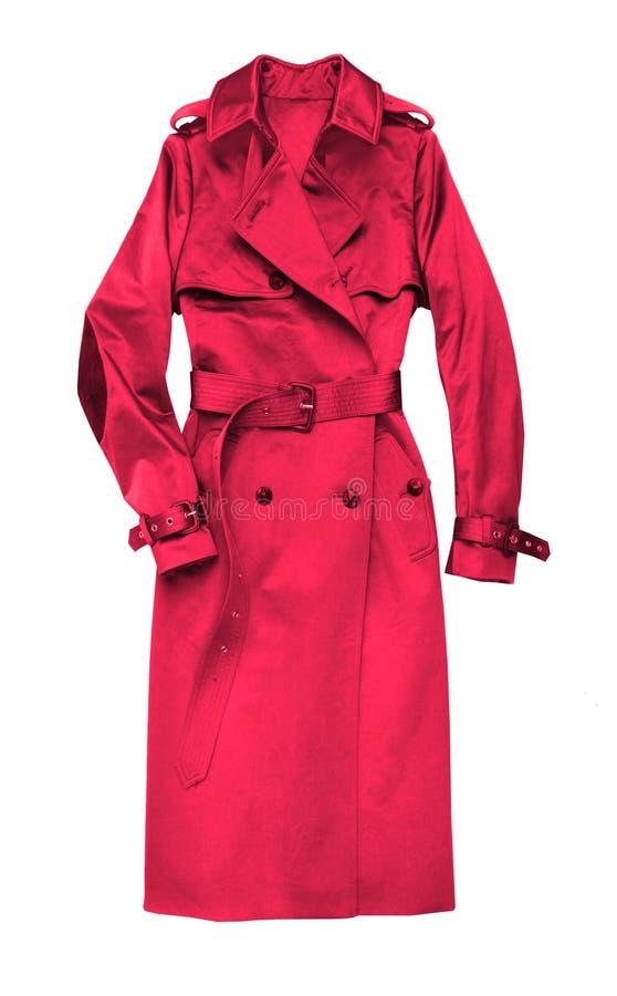 Cappotto femminile rosso immagine stock libera da diritti
