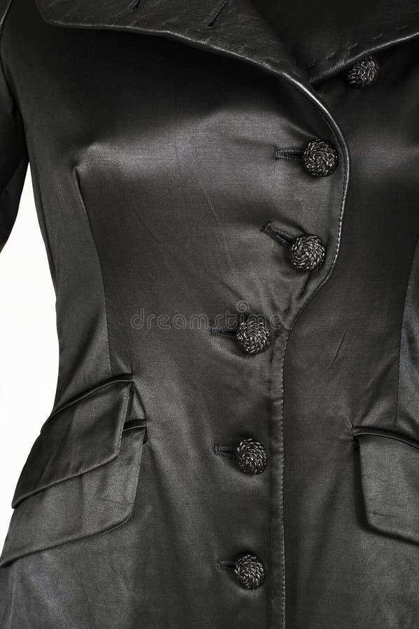 Cappotto nero femminile fotografie stock