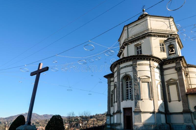 Cappuccini的教会,都灵意大利 免版税库存图片