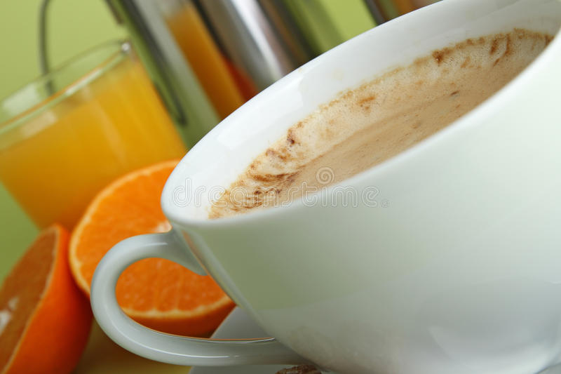 Download Cappuccino stock image. Image of health, coffee, orange - 17756797