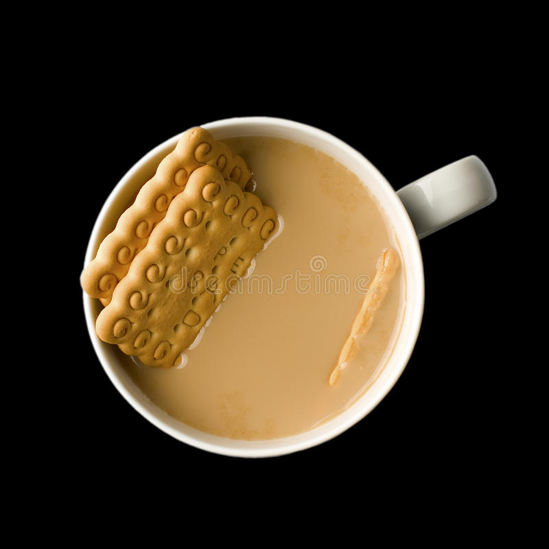 Download Cappuccino with Biscuits stock photo. Image of modern - 23461970