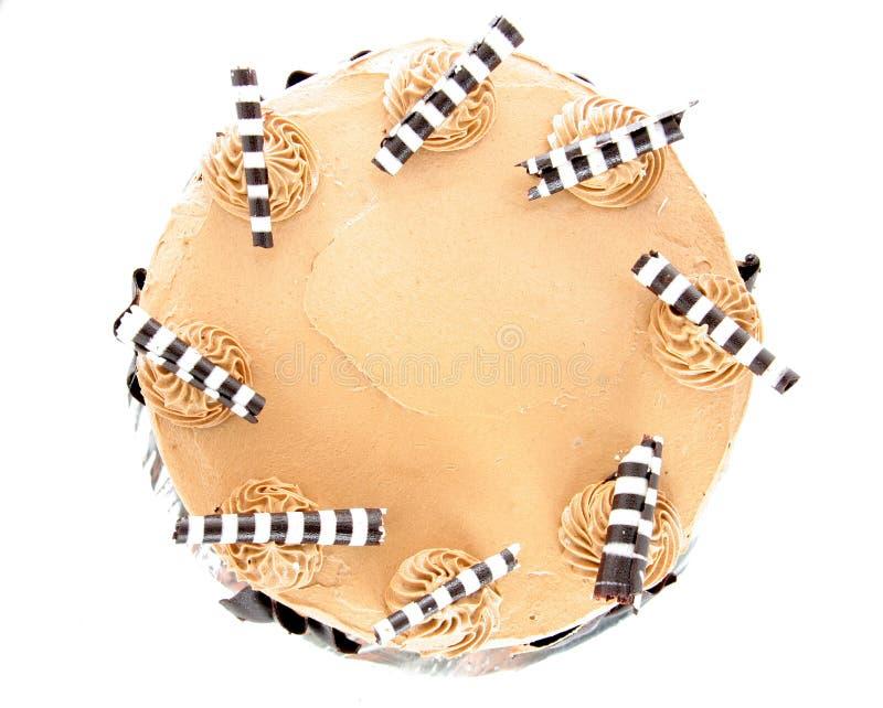 Cappuccino cake stock image