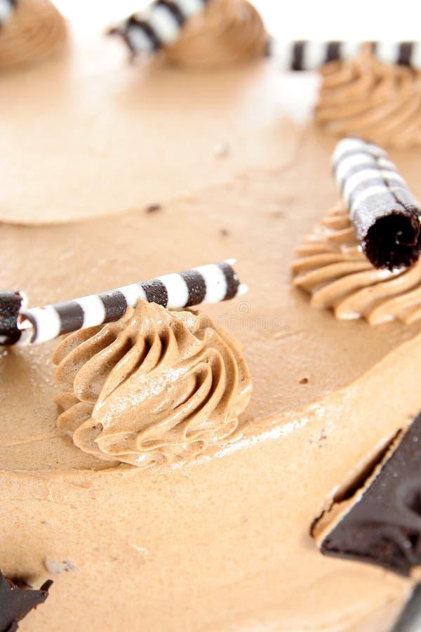 Cappuccino cake stock photography