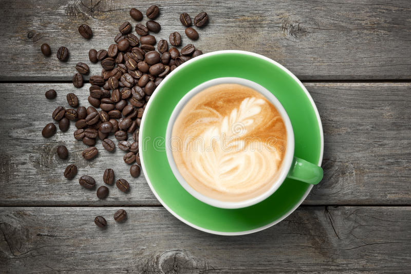 Download Cappuccino Cup Coffee Green Stock Photo - Image: 25871608