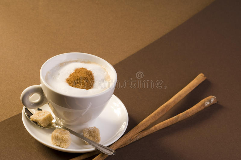 Cappuccino coffee drink royalty free stock photos