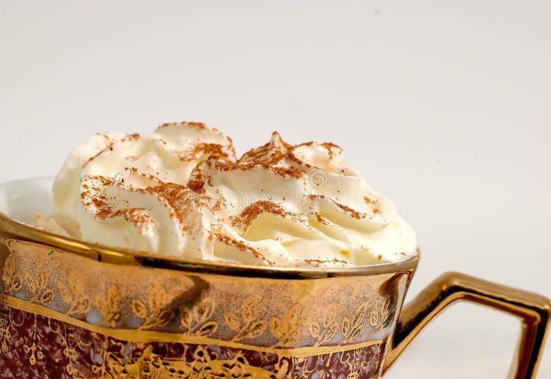 Cappuccino con crema foto de archivo