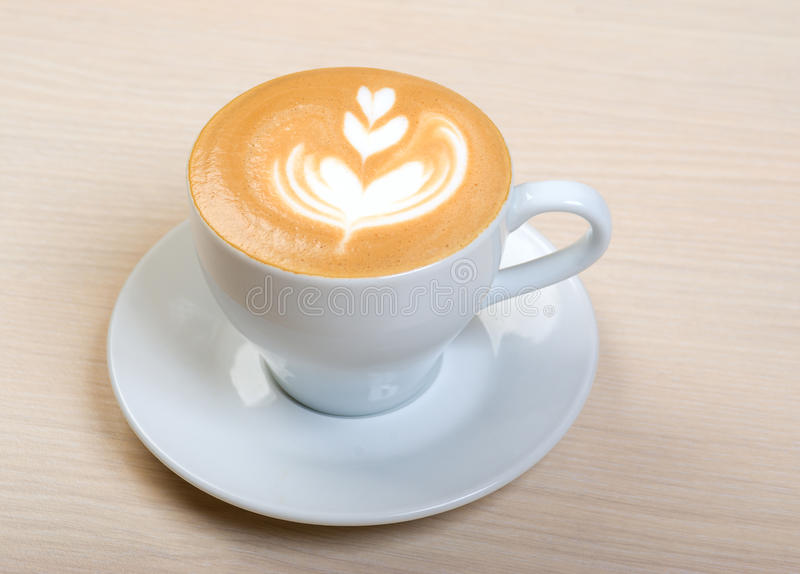 Cappuccino cup.coffee royalty free stock photo