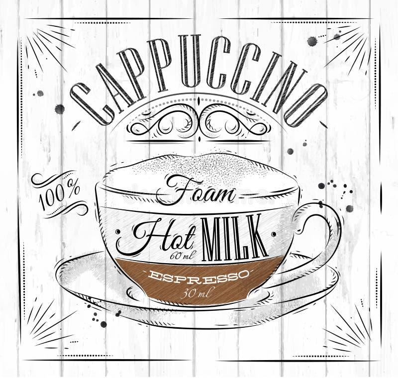 Cappuccino d'affiche illustration libre de droits