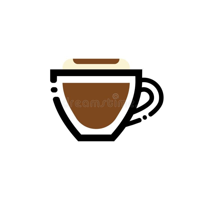 Download Cappuccino De Illustratie Van De De Lijnkunst Van De Koffiekop De Kop Van Het Lijnpictogram Vector Illustratie - Illustratie bestaande uit houder, decaf: 107700334