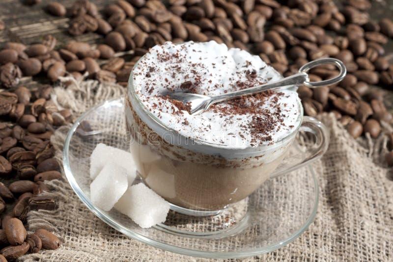 Cappuccino de Latte do café imagem de stock