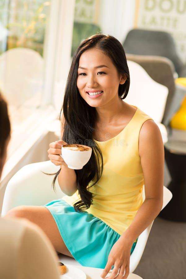 Cappuccino de matin images stock
