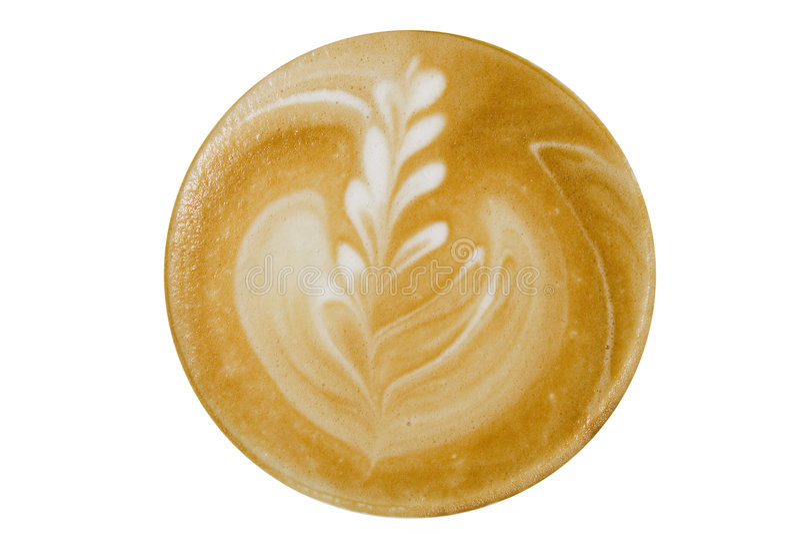 Cappuccino del café, visión superior imágenes de archivo libres de regalías