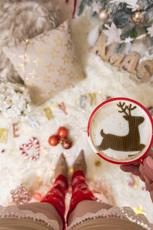 Cappuccino festif de Noël photos stock