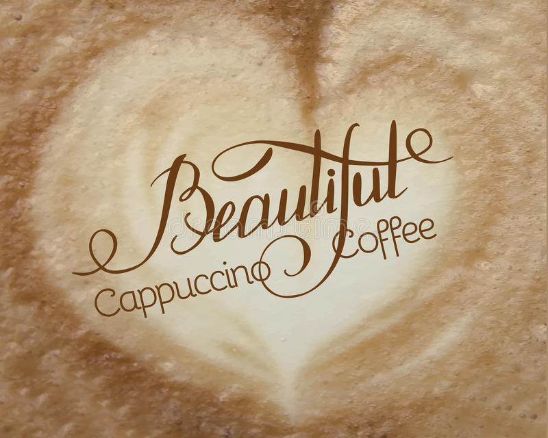 Cappuccino Foam Stock Images