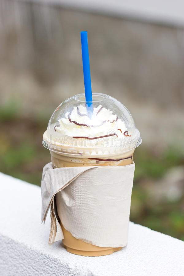 Cappuccino Frappe. arkivfoton