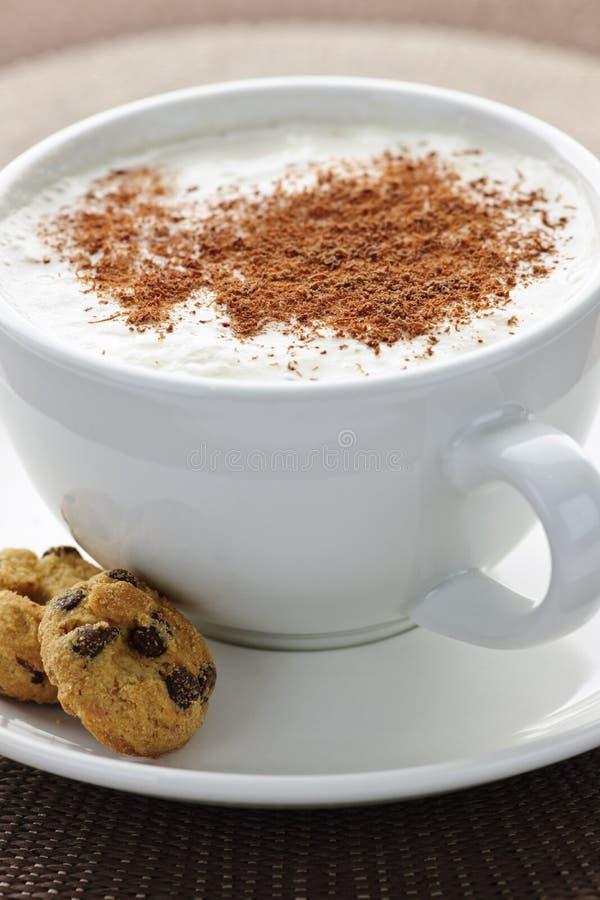 Cappuccino o café del latte fotos de archivo libres de regalías