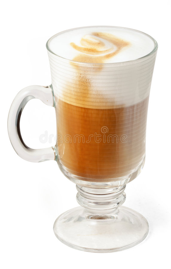 Cappuccino's in glaskop royalty-vrije stock afbeelding