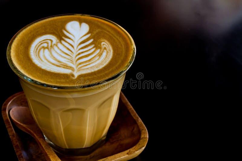 Cappuccino's of latte koffie royalty-vrije stock afbeelding