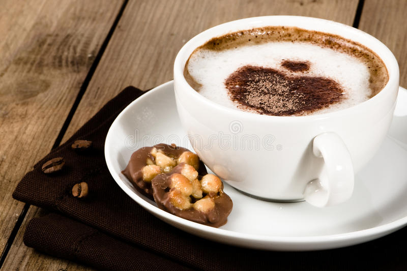 Cappuccino schiumoso fotografie stock