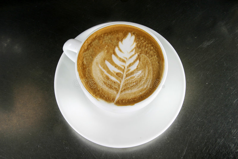 cappuccino, sztuki obraz royalty free