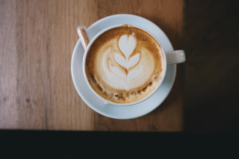 Cappuccino on Table royalty free stock image