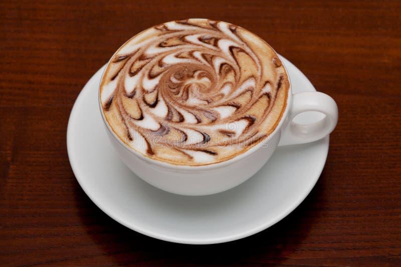 Cappuccino, taza de café fotografía de archivo libre de regalías