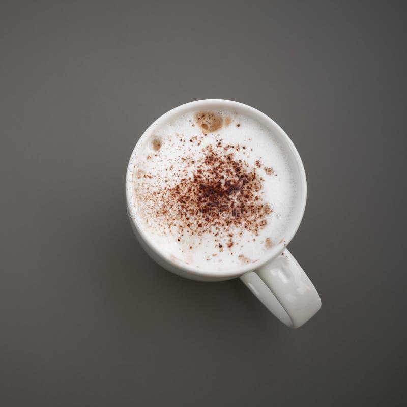 cappuccino. Taza de caf?, visi?n superior imágenes de archivo libres de regalías