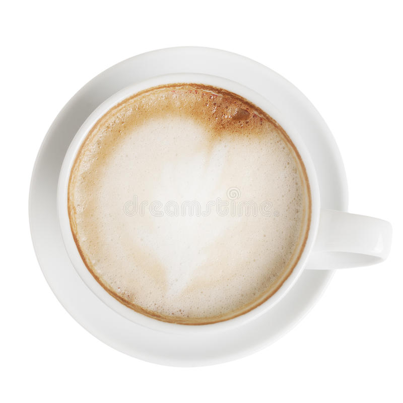 Cappuccino top view royalty free stock images