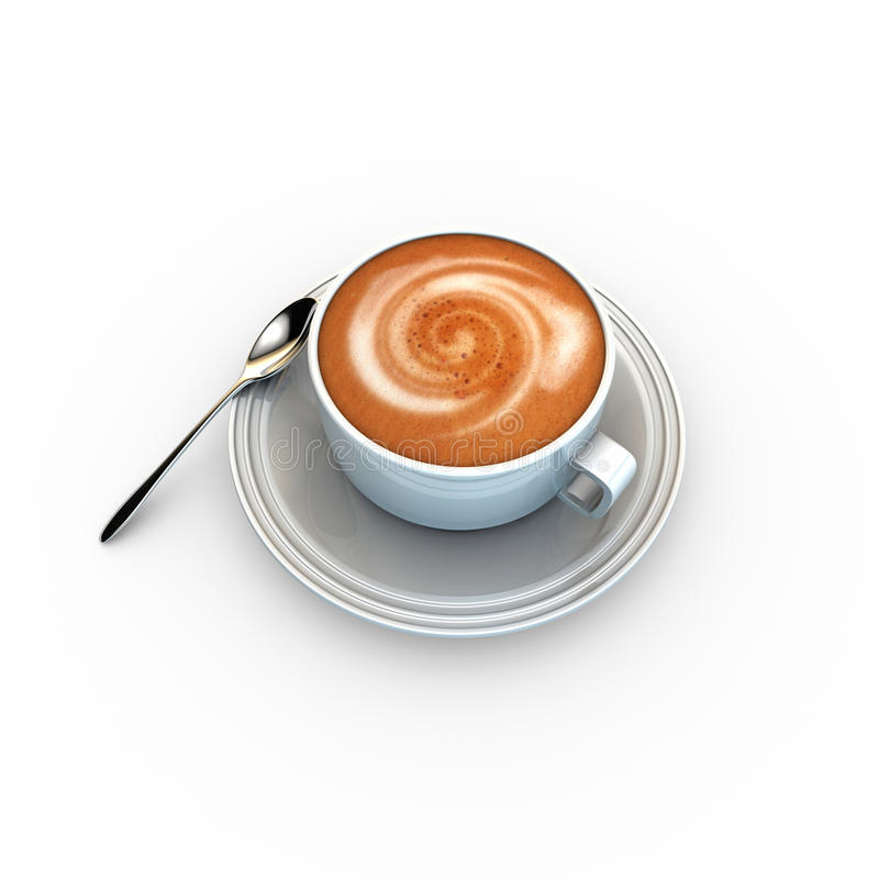 Cappuccino royalty free illustration