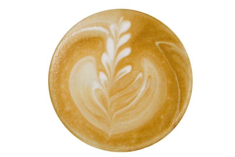 cappuccino widok kawowy odgórny obrazy royalty free