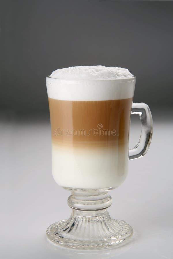 Cappuccino zwei Farben stockfoto