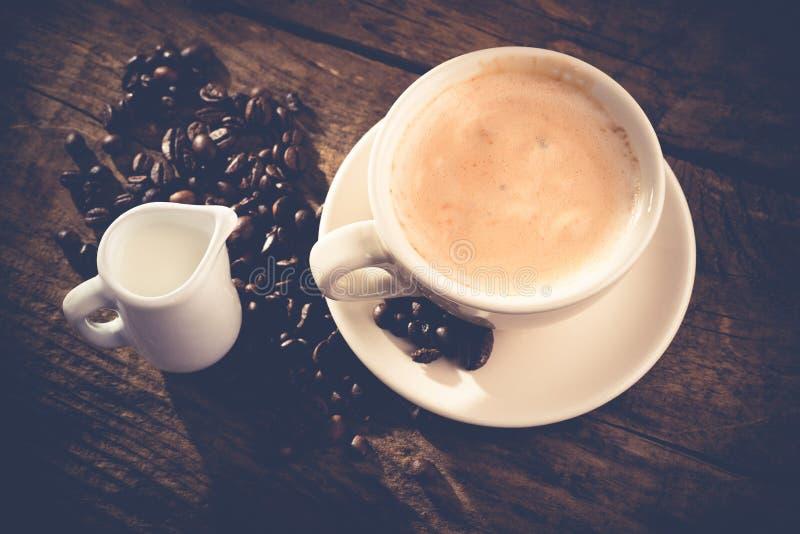 Cappuccinobruch stockfoto