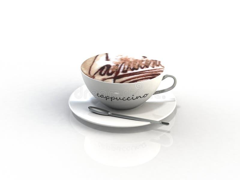 CappuccinoKaffeetasse lizenzfreie stockfotos