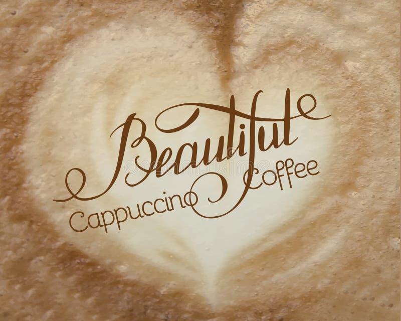 Cappuccinoskum stock illustrationer