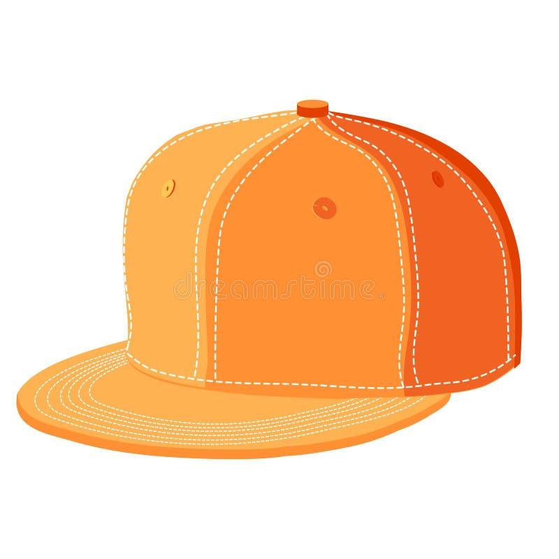 Cappuccio arancio illustrazione di stock