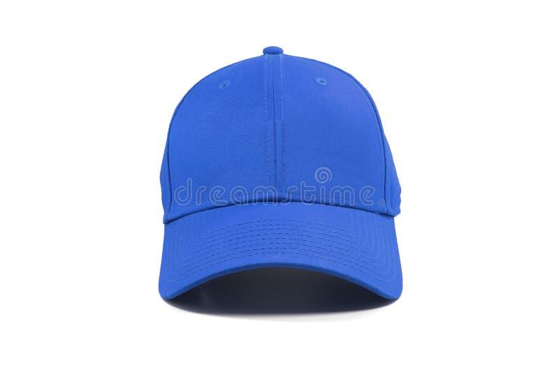 Cappuccio blu di modo isolato fotografia stock