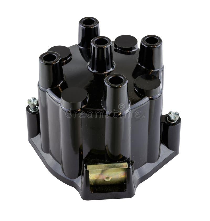 Cappuccio di distributore commerciale americano d'annata antico dell'accensione del cilindro dell'automobile 4 fotografia stock