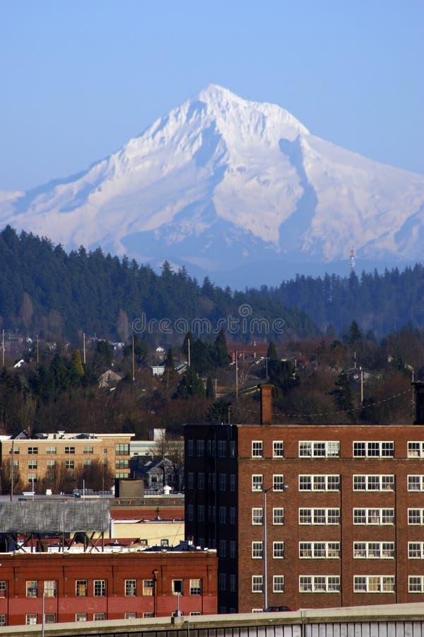 Cappuccio di Mt sopra Portland, Oregon immagine stock