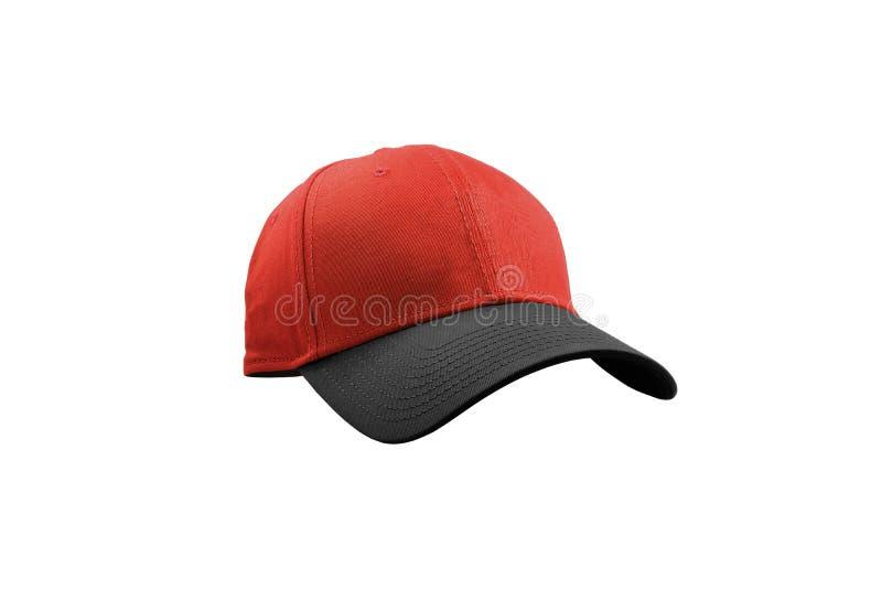 Cappuccio nero e rosso di modo isolato royalty illustrazione gratis