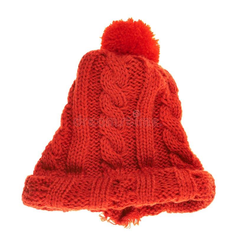 Cappuccio tricottato di inverno isolato immagini stock libere da diritti