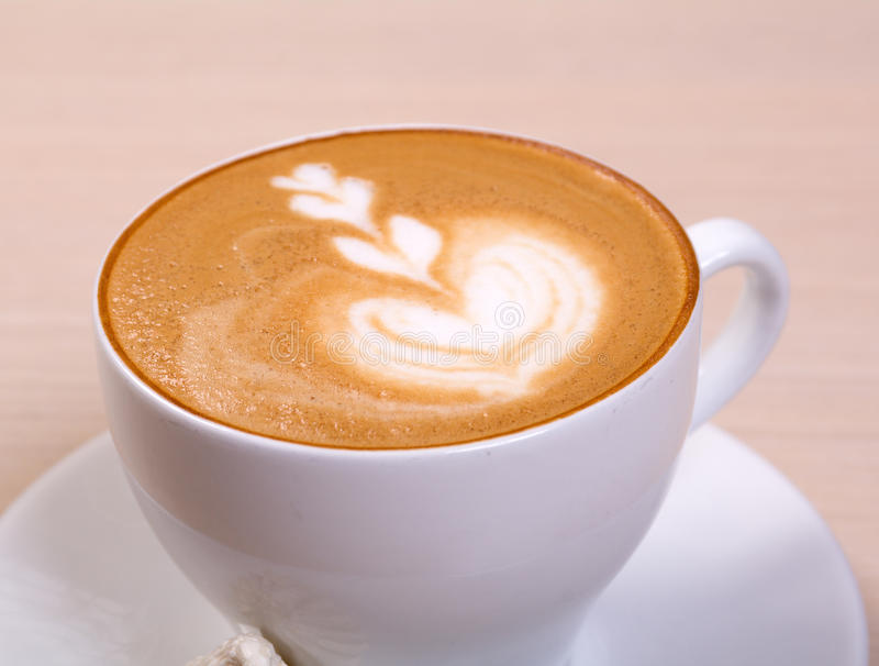 Download Cappuchino cup. stock photo. Image of glass, espresso - 14367986