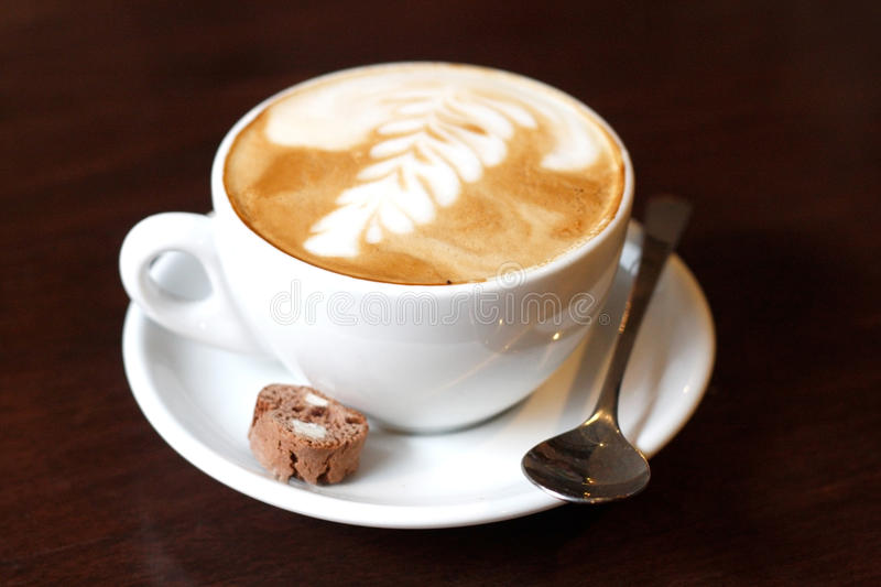 Cappucino. A delicious and well served cappucino stock photography