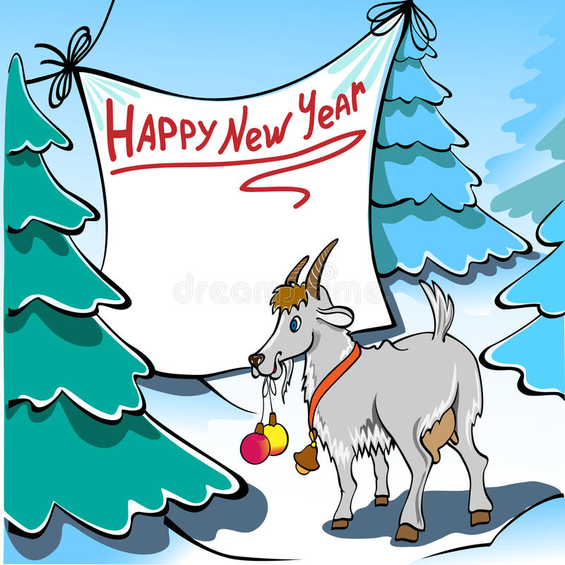 Capra di Natale immagini stock libere da diritti