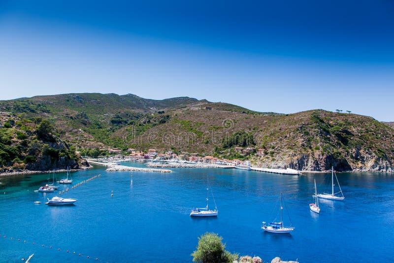 Capraia Island, Arcipelago Toscano National Park, Tuscany, Italy royalty free stock photos