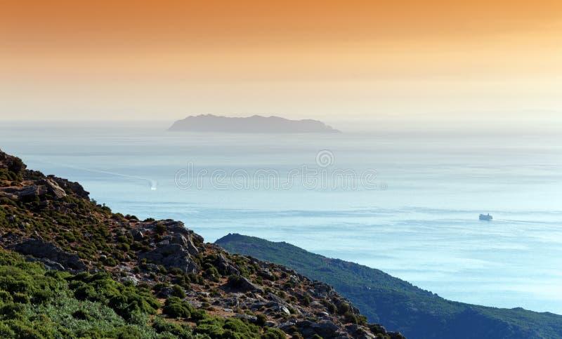 Capraia island stock photos