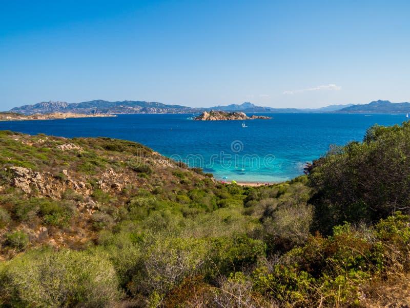 Caprera,拉马达莱纳海岛  免版税库存照片
