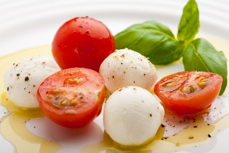 caprese σαλάτα στοκ εικόνα με δικαίωμα ελεύθερης χρήσης